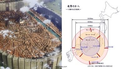 Photo of Inilah yang Akan Terlihat Jika Dinding Shingeki no Kyojin Dibangun Di Atas Jepang