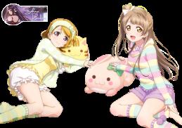 kotori_minami_and_hanayo_koizumi_render_by_yuusakisakuya-d84zh36