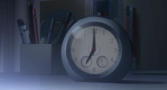 Look, the classic woken up by a clock