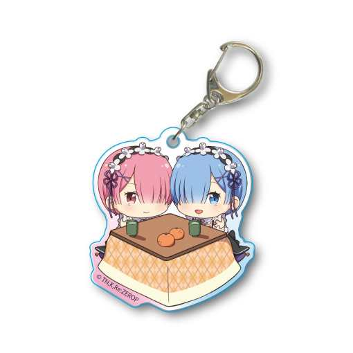 Re Zero - Rem Ram Kotatsu Acrylic Key Chain