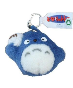 Blue Totoro Medium Plush Keychain