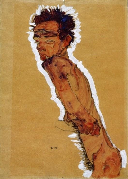 Self Portrait Nude: Egon Schiele