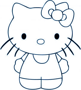 Dessin de chat - Dessin de hello kitty facile ...