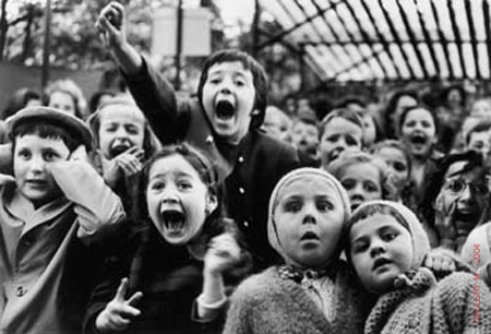 Photo of Alfred Eisenstaedt's Children at Puppet Theatre