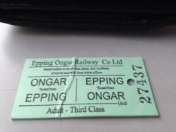 Ongar Epping Train Ticket