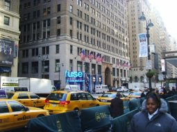 outside Madison Square Garden