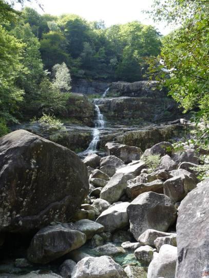 verzasca valle waterfall
