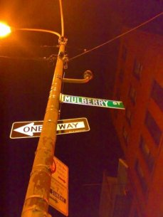 Mulberry Street NY Sign