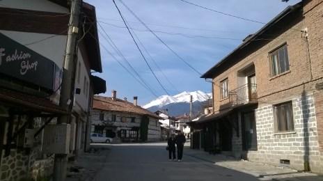 Road Bansko Bulgaria