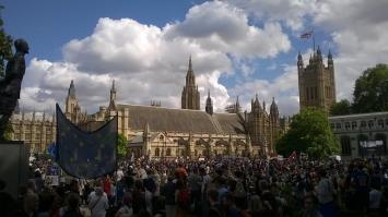 Parliament Square EU Referendum March