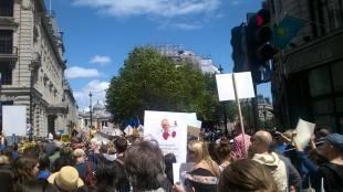 Demonstrating for Europe