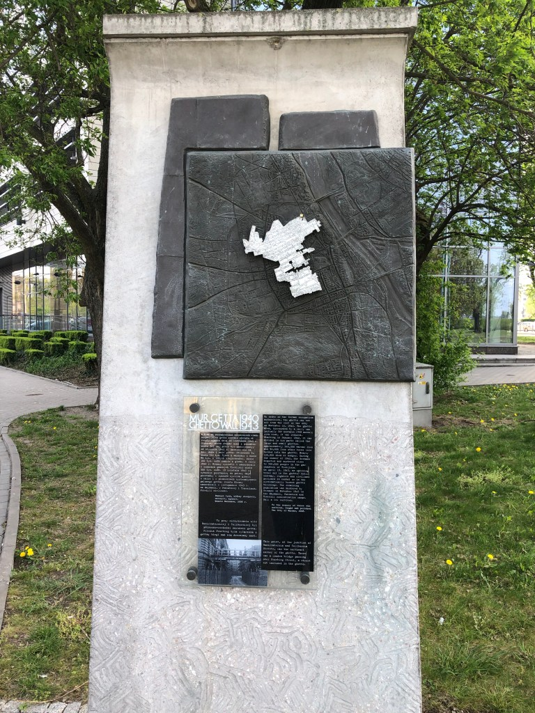 Warsaw Ghetto boundary marker