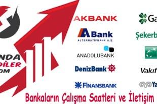 Bankaların Çalışma Saatleri ve İletişim Bilgileri