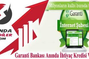 dijital ihtiyaç kredisi