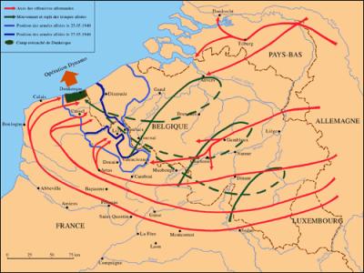 Peta Pengepungan Dunkirk (Sumber http://www.cheminsdememoire.gouv.fr)
