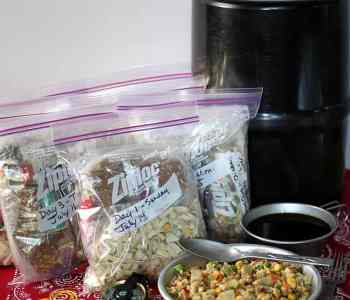 A Week of Lightweight, Nutritious Backpacking Food