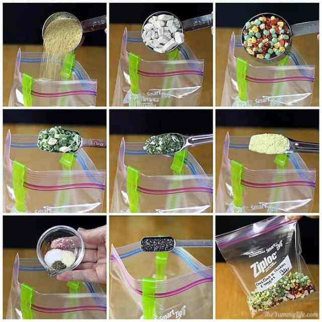 6 instant meals-in-a bag