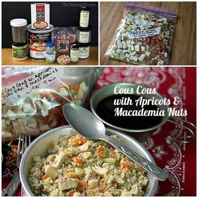 Instant Meals-On-The-Go | CousCous, Apricots, Macademia Nuts. Just add boiling water! from TheYummyLife.com
