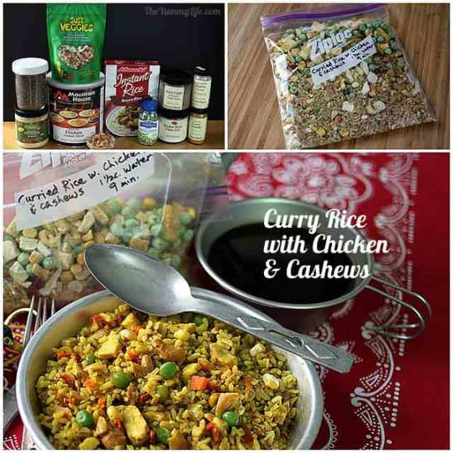 Instant Meals-On-The-Go | Curry Rice, Cashews & Chicken. Just add boiling water! from TheYummyLife.com