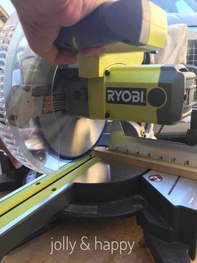 Ryobi saw made this lantern DIY easy and fast