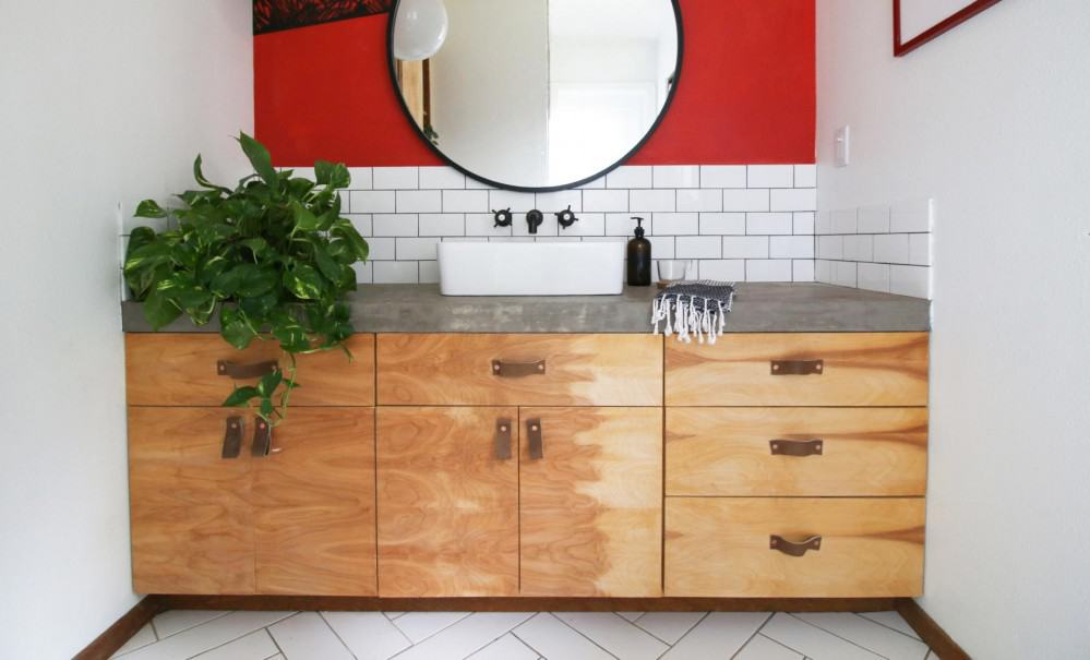 DIY: Birch Cabinet Fronts