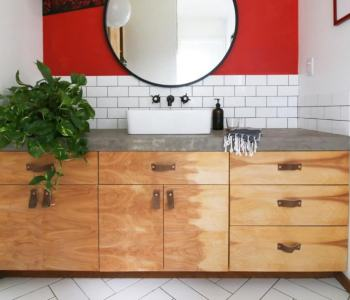 DIY: Birch Cabinet Fronts