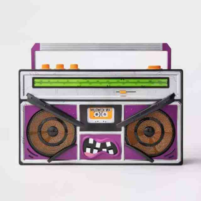 Animated Monster Boombox Halloween Décor