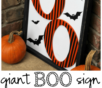 Giant Boo Halloween Sign Tutorial