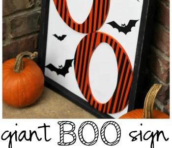 [2020] Giant Boo Halloween Sign Tutorial