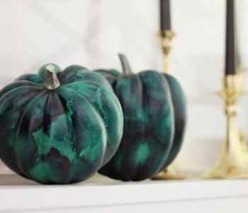 DIY Project: Malachite Pumpkins by Hank and Hunt