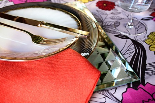 diy easy geometric mirror placemat