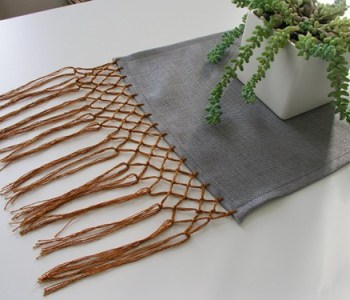 Sewing 101: Knotted Fringe Table Runner