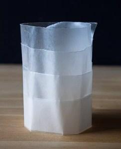 Dorm DIY: Wax Paper Candleholders