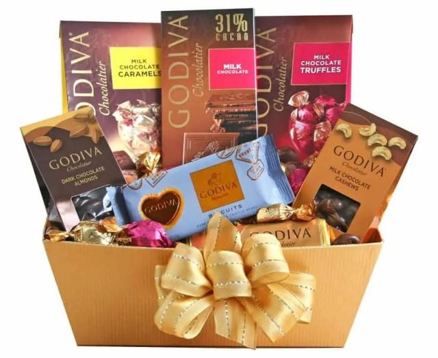 Best Christmas Gift Baskets 2019: Godiva Chocolate Gold Basket 2020