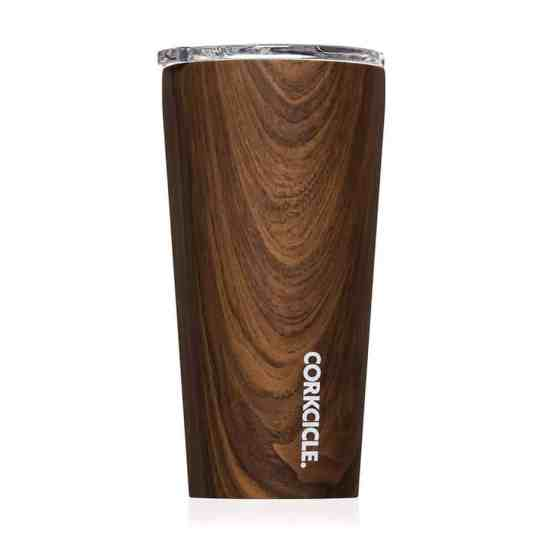 Best Coworker Gifts 2019: Corkcicle Walnut Wood Travel Tumbler for Boss 2020