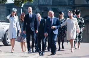 UK Royal Family attended Easter Sunday Service at St. George's Chapel