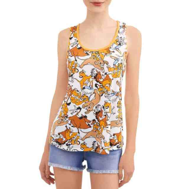 Lion King Toss Disney Licensed Knit Graphic Tank Top