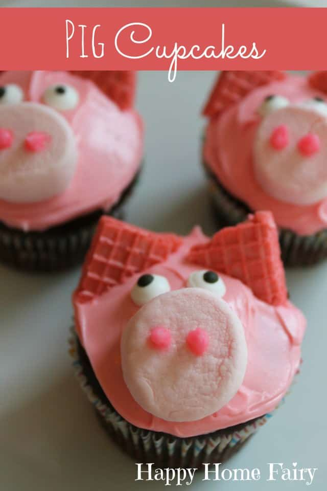 Piggy Birthday Cupcakes