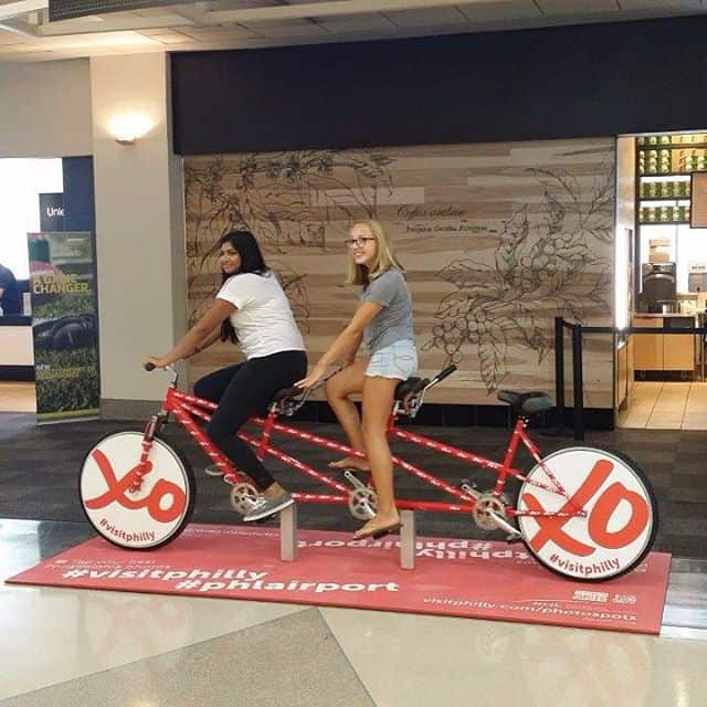Philadelphia airport bike