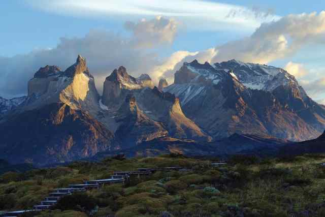 torres del paine mountains patagonia chile