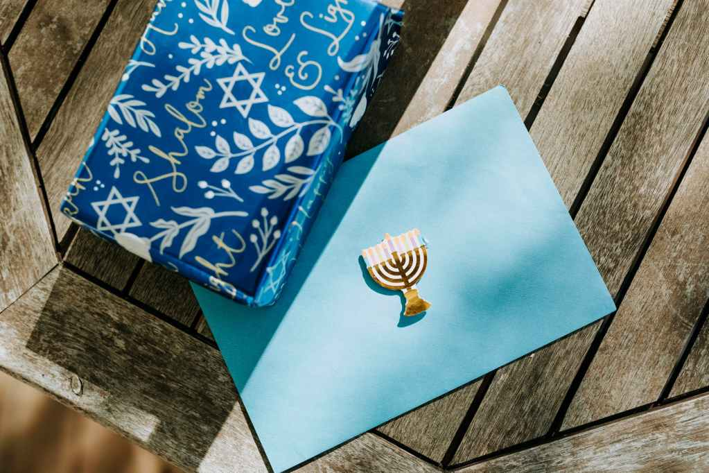 close up photo of gift box on wooden surface