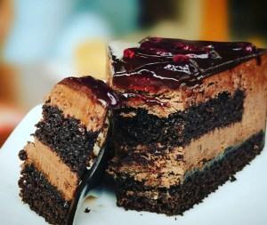 blueberries cake chocolate chocolate cake