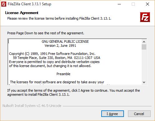 Filezilla Regular Installer