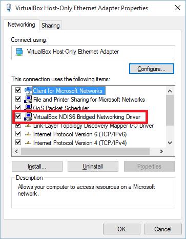 VB Bridged Network Adapter