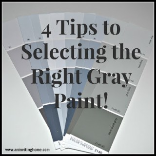 4 Tips to Selecting the Right Gray Paint