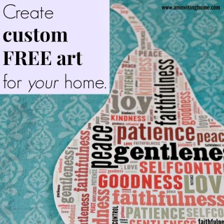 Create Custom FREE Art For Your Home