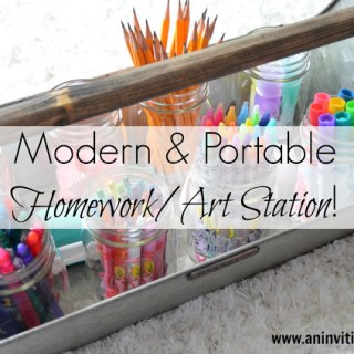 Modern & Portable Homework/Art Station!