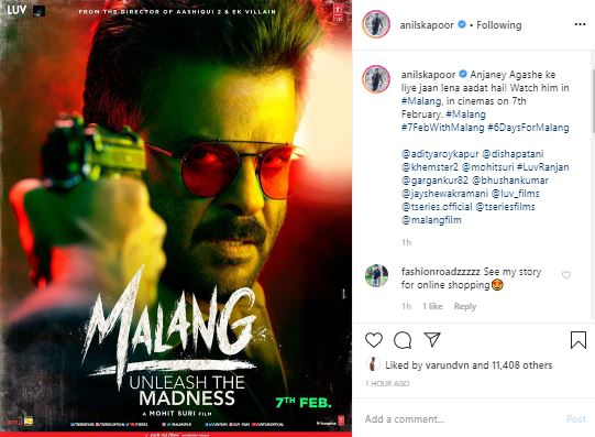 Anil Kapoor Shares Intriguing Poster Of Malang News Live Tv
