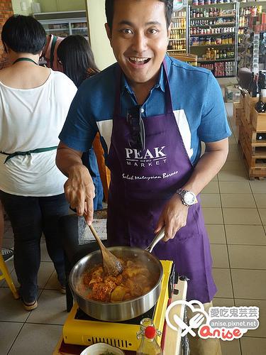 辣死你媽(NASI LEMAK椰漿飯)、叁巴江魚仔、冷當雞(chicken redang)食譜 at Peak Market@2014沙巴小旅行