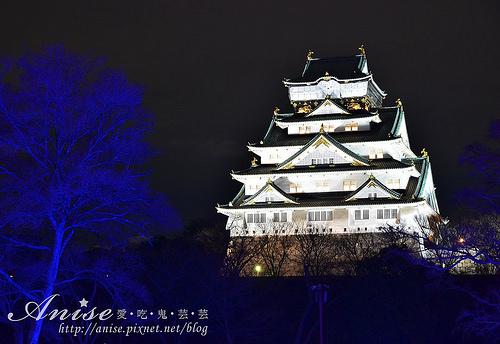 大阪景點.大阪城3D燈光秀,絢麗奪目值得一看(內附折價券)